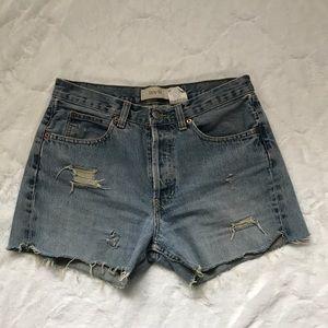 DIY Gap Denim Shorts Distressed Boy Fit 6